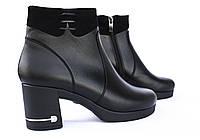 Ботинки кожаные, короткие, на платформе; от производителя., фото 1