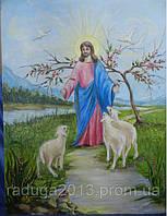 Картина маслом на холсте Иисус, прекрасный подарок для дома женщине на 8 марта