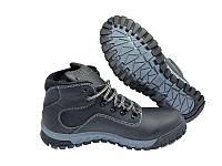 Мужские  зимние кожаные ботинки Columbia black, фото 1