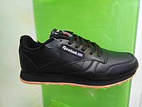 Мужские кроссовки Reebok Classik Leather черные