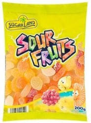 Жевательные конфеты Sugar Land Sour Fruits 200g, фото 2
