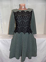 Женское платье вставки гипюр оптом