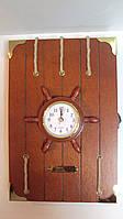 Ключница настенная деревянная «Бортовой журнал капитана» размер 30*20*5