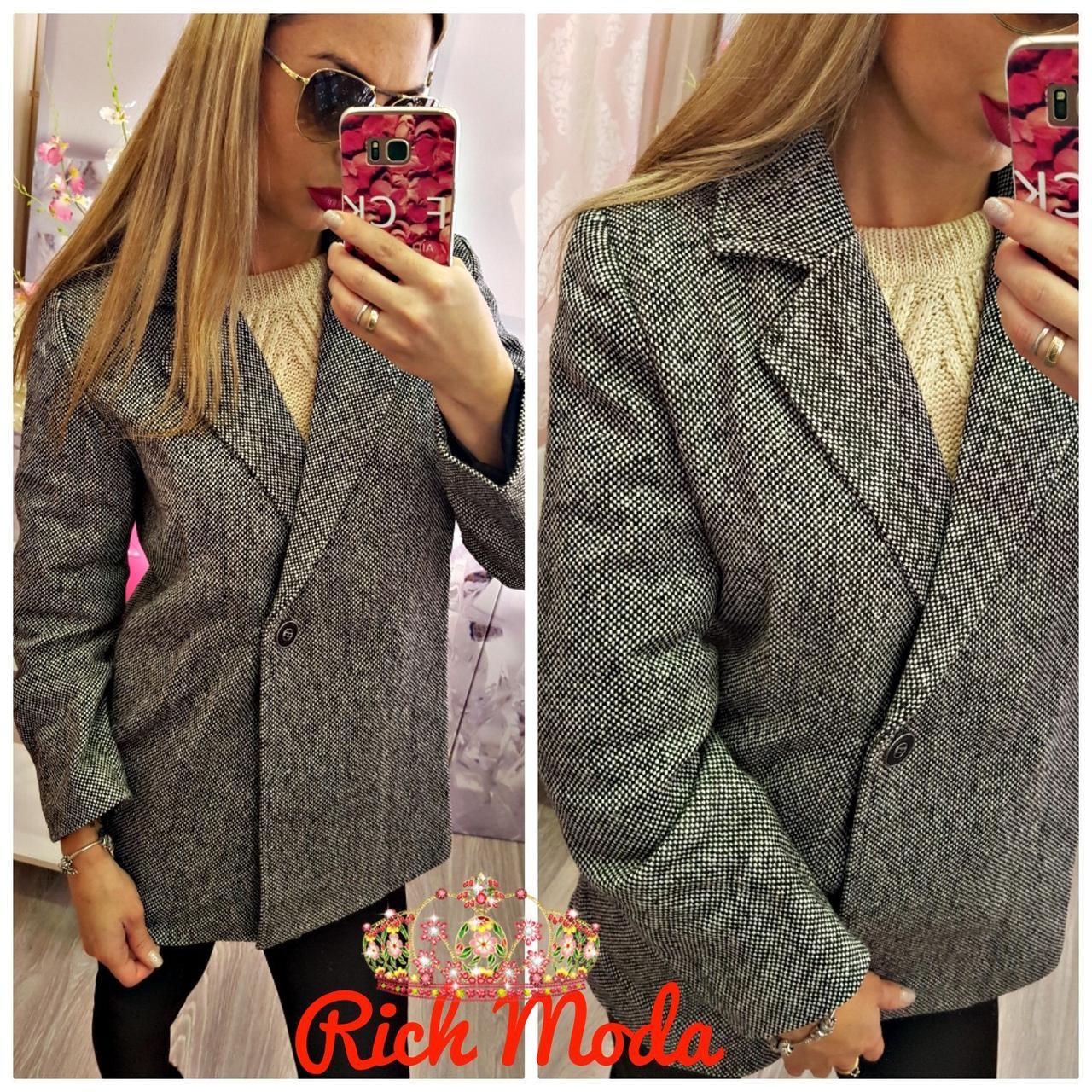 Женское твидовое пальто IO-1083 - «Riccardo» - мультибрендовый  интернет-магазин одежды 91d498f27fe