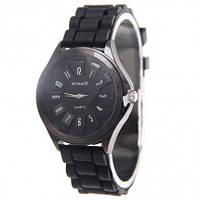 Часы женские Womage силиконовый ремешок Черные 068-2