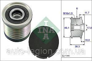 Ремінний шків генератора на Renault Trafic 01-> 1.9 dCi (6 PK) — INA (Німеччина) - 535003010