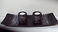 Подсвечник на две свечи размер 35*13*7 см