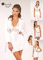Шёлковый набор белья 6 в 1: Модель 2350   6в1: Халат, сорочка,кофта, штаны, майка и шортики
