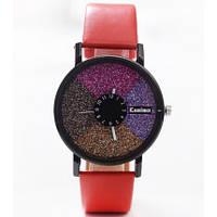 Часы женские Stardust Секции красный ремешок 075-1