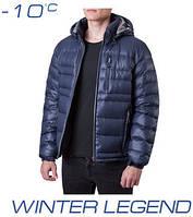 Пуховик зимний мужской | Ajento 339 синий