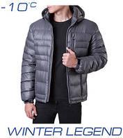 Зимний мужской пуховик | Ajento 339 серый