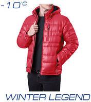 Мужской пуховик зимний | Ajento 339 красный