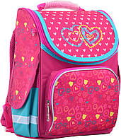Рюкзак каркасний Smart PG-11 1 Вересня Hearts  , фото 1