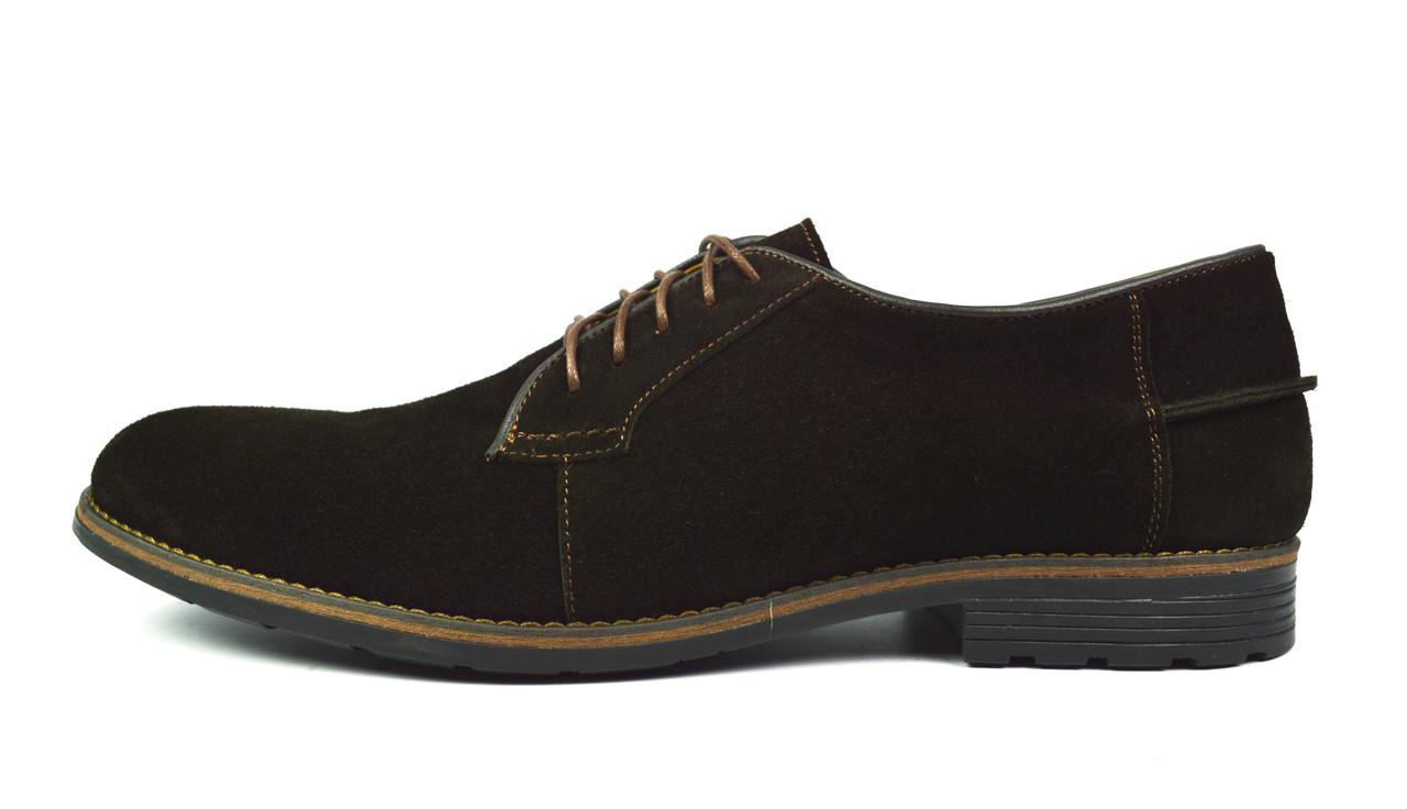 Коричневые мужские замшевые туфли Madoks ( модные, стильные, новинки весна, лето, осень)