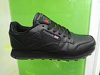 Женские кроссовки Reebok Classic Leather черные