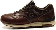Мужские кожаные зимние кроссовки New Balance 1400 Winter Leather Casual Shoes Brown (Нью Баланс) коричневые