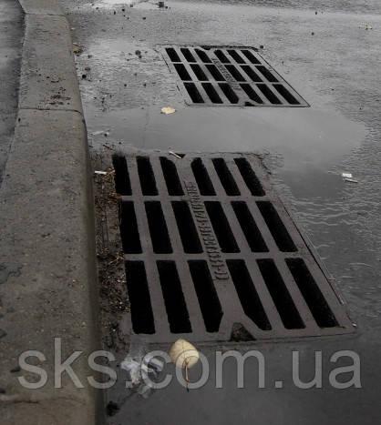 Решетка чугунная водосточная