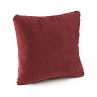 Подушка декоративна квадратна, бордо флок_под нанесення, фото 1