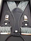 Серые мужские подтяжки Paolo Udini , фото 4