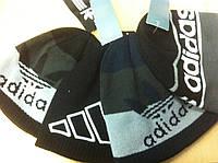 Мужская шапка двойные  с логотипом хорошего качества по низкой цене