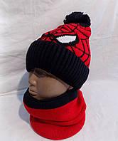Детский набор шапка+хомут зима оптом