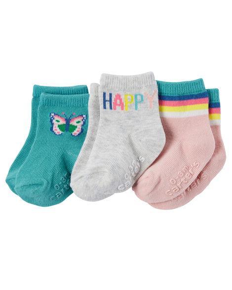 Носки Carters для девочки 0-3 месяцев (3 пары)