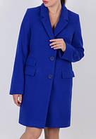 Пальто Честрефилд, класическое полупальто, цвет электрик (синий)
