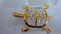 Статуэтка с камнями сваровски черепашка