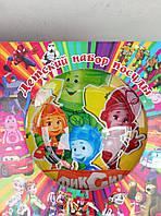 """Набор яркой детской посуды с любимыми мультфильмами """"фиксики"""""""