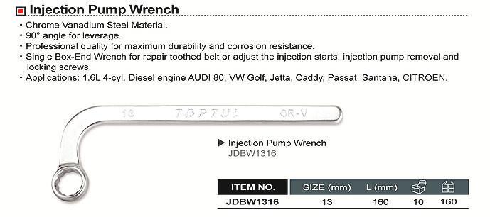 Ключ для топливного насоса накидной 13мм