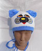 Детская шапка на флисе зима оптом, фото 1