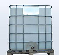 Емкость 1000 литров бак, бочка для транспортировки квадратная в решетке с металлическим краном
