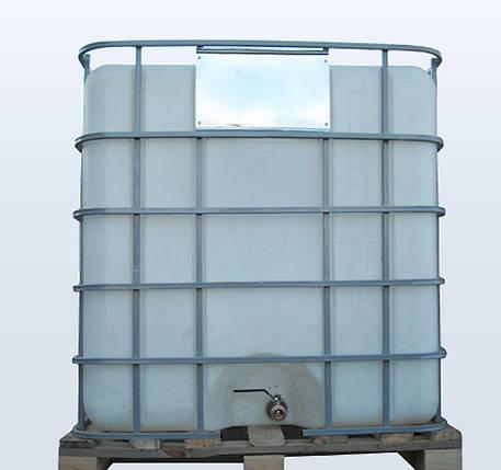 Емкость 1000 литров бак, бочка Еврокуб для транспортировки воды, КАС перевозки в решетке с краном, фото 2