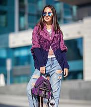 Женская вязанная кофта с капюшоном, фото 3