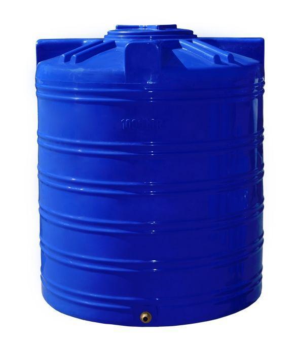 Емкость бак, бочка 1000 литров пищевая двухслойная вертикальная RVД