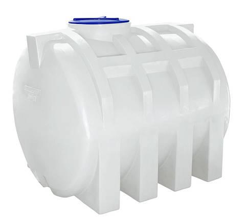 Бак, бочка 1500 литров емкость пищевая горизонтальная RGО, фото 2