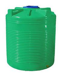 Бак, бочка 1500 литров ёмкость зеленая двухслойная пищевая вертикальная RVД