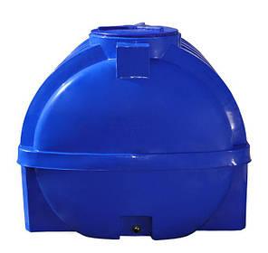 Бак, бочка 2000 литров емкость усиленная двухслойная с ребром пищевая горизонтальная RGД Р, фото 2
