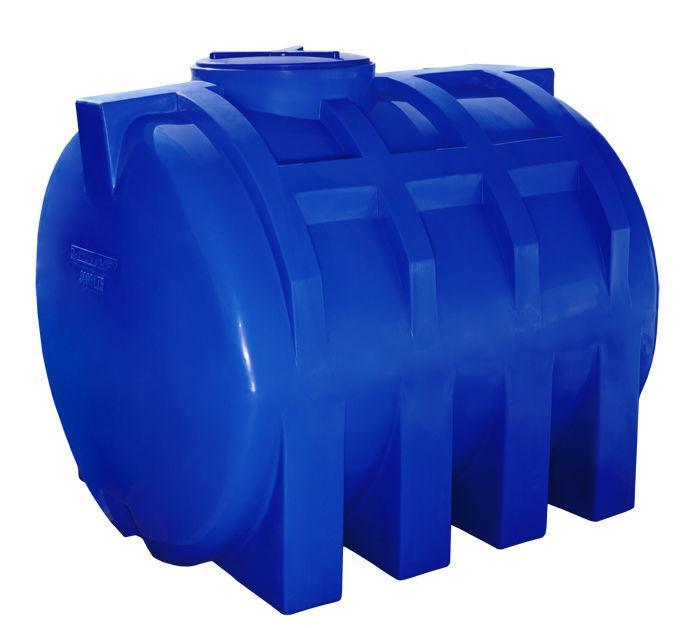 Бак, бочка 3000 литров емкость двухслойная пищевая горизонтальная RGД
