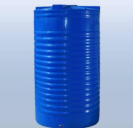 Бак, бочка 20000 литров емкость пищевая двухслойная вертикальная RVД, фото 2