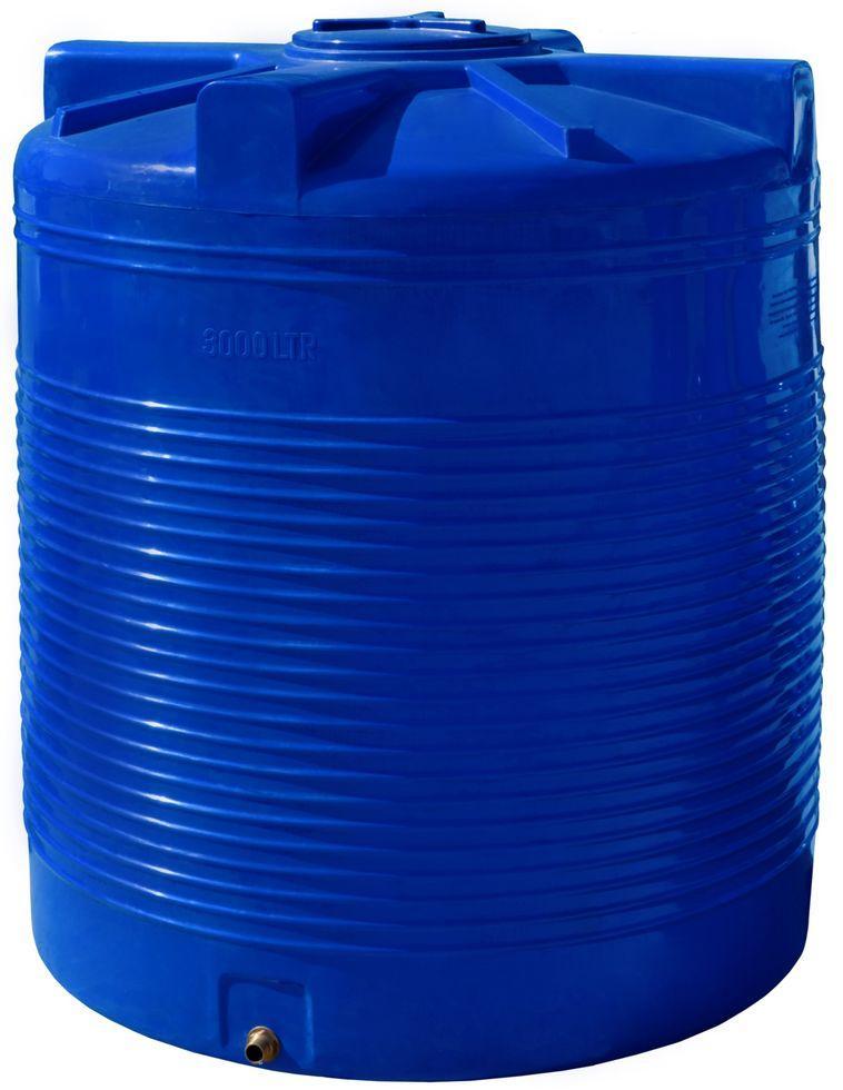 Бак, бочка 3000 литров емкость пищевая двухслойная вертикальная RVД