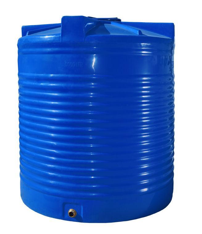 Бак, бочка 5000 литров емкость пищевая двухслойная вертикальная RVД