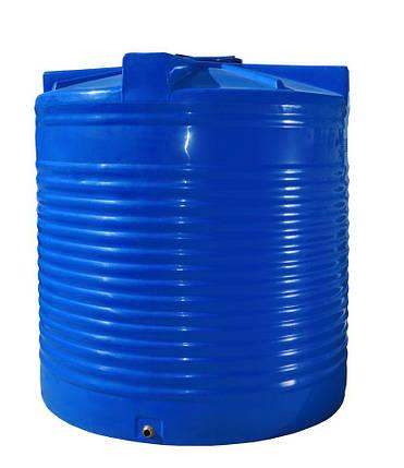 Бак, бочка 7500 литров емкость пищевая двухслойная вертикальная 7000 8000 RVД, фото 2