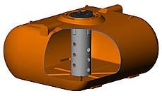 Бак, бочка 5000 л емкость усиленная для транспортировки воды, КАС перевозки пищевая Т Е, фото 3