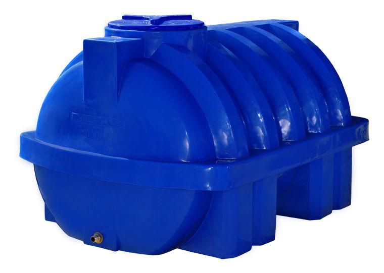Емкость 1000 литров бак, бочка пищевая усиленная ребром двухслойная горизонтальная RGД Р