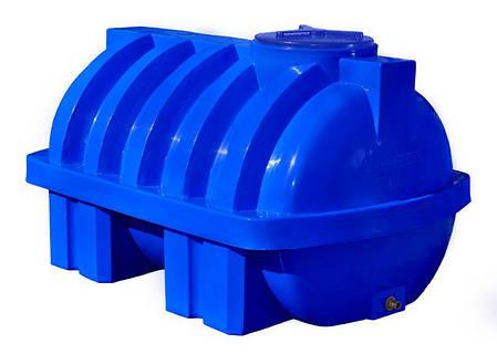 Емкость 1000 литров бак, бочка пищевая усиленная ребром двухслойная горизонтальная RGД Р, фото 2