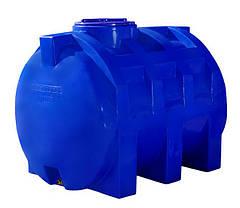Емкость бак, бочка 1000 литров пищевая зелёная двухслойная горизонтальная RGД З, фото 2