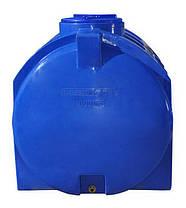 Емкость бак, бочка 1000 литров пищевая зелёная двухслойная горизонтальная RGД З, фото 3