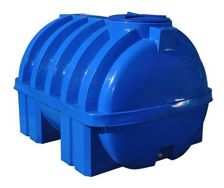 Бак, бочка, емкость 1500 литров емкость усиленная ребром пищевая двухслойная горизонтальная RGД Р, фото 2