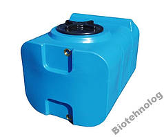 Бак, бочка, емкость 200 литров пищевая прямоугольная, крышка d 35 см SК